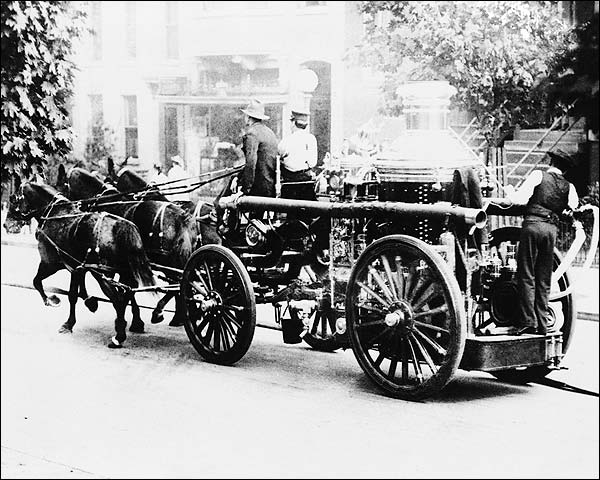 Horse Drawn Antique Fire Engine Wash., DC Photo Print for Sale