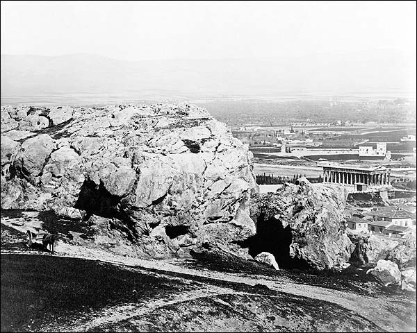 Areopagus & Temple of Theseus in Athens, Greece Photo Print for Sale