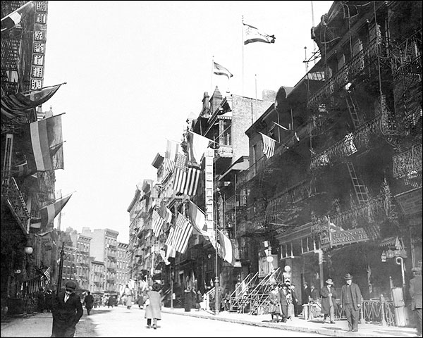 Stanton Street New York City Chinatown 1913 Photo Print for Sale