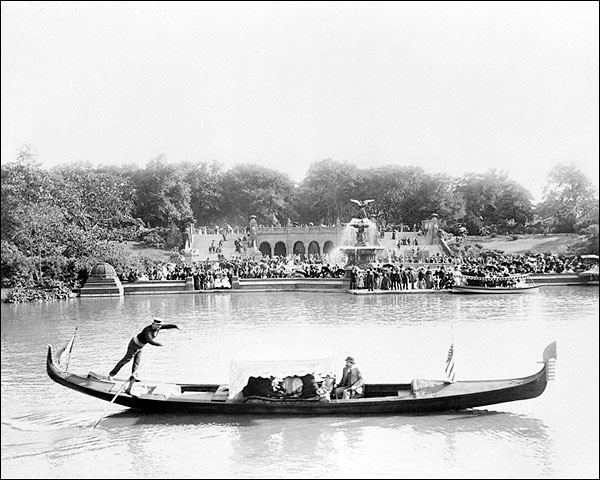 Central Park Gondola Bethesda Fountain 1894 Photo Print for Sale