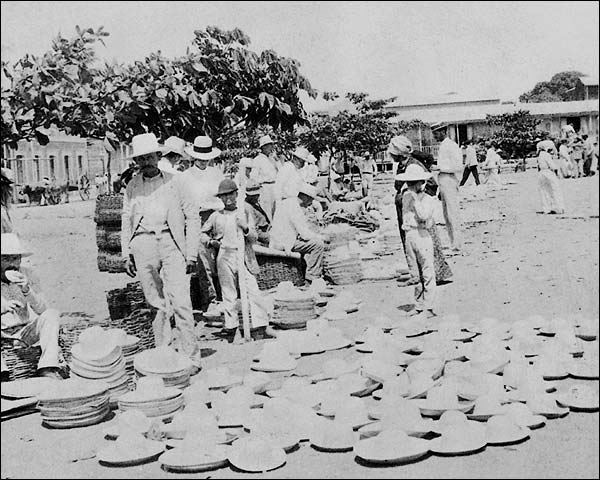 Sombrero Market, Yauco, Puerto Rico 1900 Photo Print for Sale