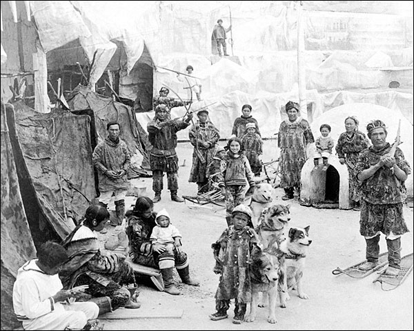 Arctic Village Eskimos St. Louis Fair 1904 Photo Print for Sale