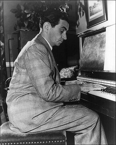 Composer Irving Berlin Portrait at Piano Photo Print for Sale
