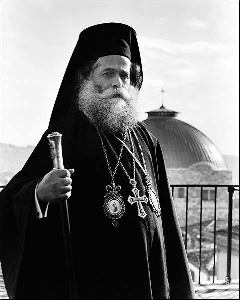 Greek Patriarch of Jerusalem 1940s Portrait Photo Print for Sale