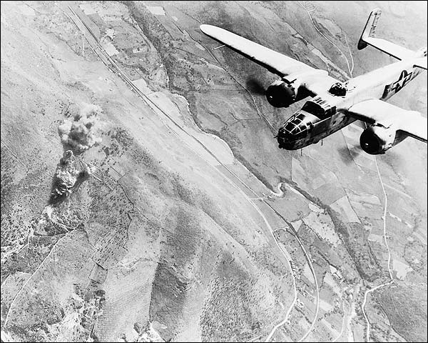 WWII B-25 Bombing Near Rome, Italy Photo Print for Sale