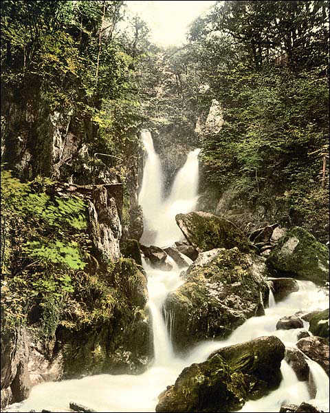 Waterfall in Ambleside, England 1890s Photo Print for Sale