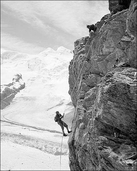 Mountain Climbers Matterhorn Switzerland Toni Frissell Photo Print for Sale