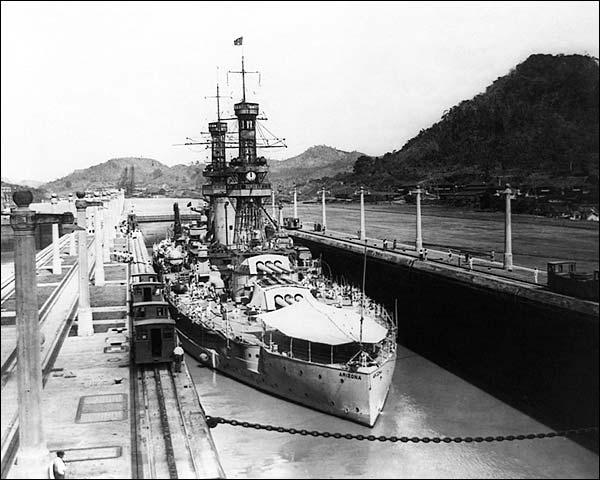 U.S.S. Arizona Battleship in Panama Canal Photo Print for Sale
