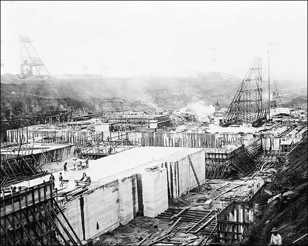 Gatun Locks Construction Panama Canal 1910 Photo Print for Sale
