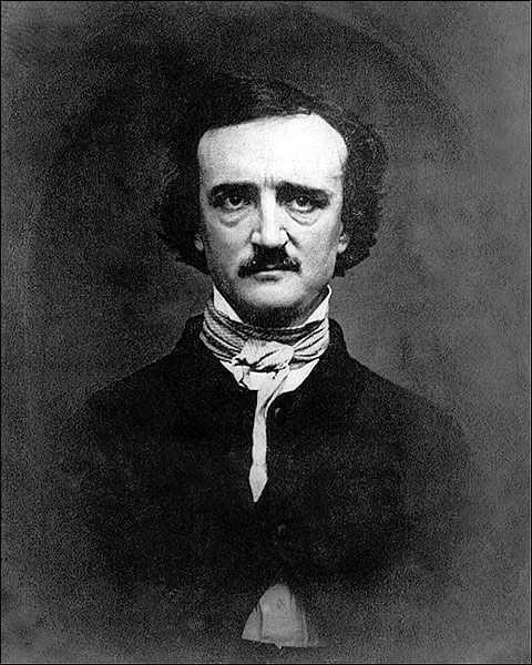 Poet Edgar Allan Poe Portrait 1848 Photo Print for Sale