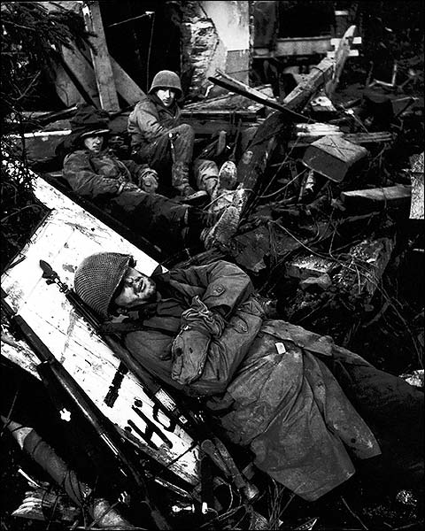 Rhone River Valley WWII Damage US Soldiers Photo Print for Sale