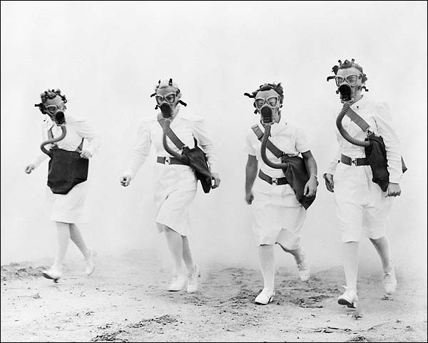 WWII Nurses Gas Mask Training Exercise Photo Print for Sale