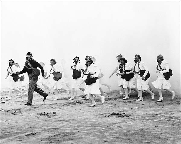 Gas Mask Training Exercise Nurses WWII Photo Print for Sale