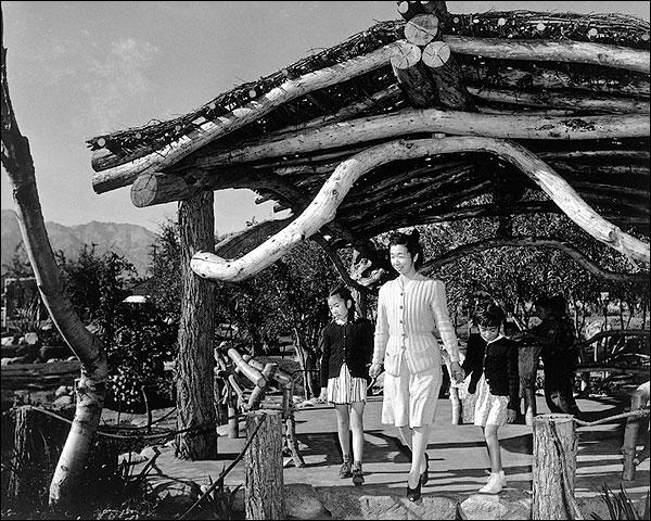 Family Park Manzanar War Camp Ansel Adams Photo Print for Sale