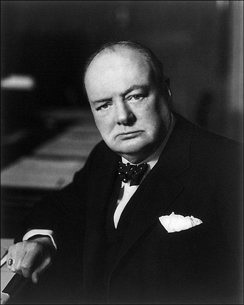 Sir Winston Churchill Portrait Photo Print for Sale