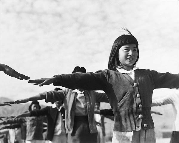 Manzanar Camp Calisthenics Ansel Adams Photo Print for Sale