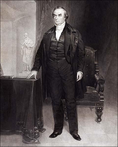Daniel Webster 1851 Illustrated Portrait Photo Print for Sale