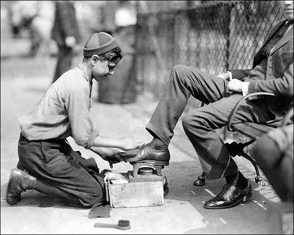Shoe Shine Boy New York City 1924 Photo Print for Sale
