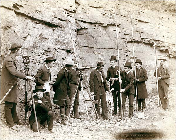 Deadwood Central Railroad Surveyors 1888 Photo Print for Sale