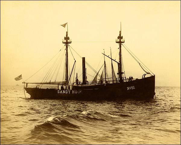 Brooklyn NY Lightship Sandy Hook 1900s Photo Print for Sale