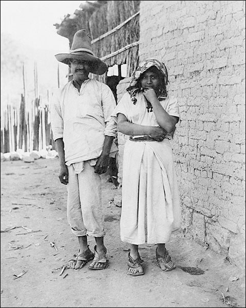 Mexican Couple Standing Portrait in Mexico Photo Print for Sale