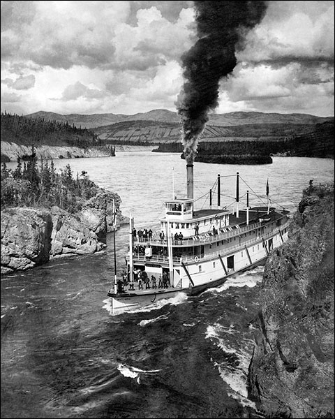 Paddle Wheel Steamer Yukon Territory Alaska Photo Print for Sale