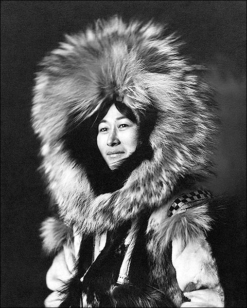 Eskimo Woman Portrait Yukon Alaska 1915 Photo Print for Sale