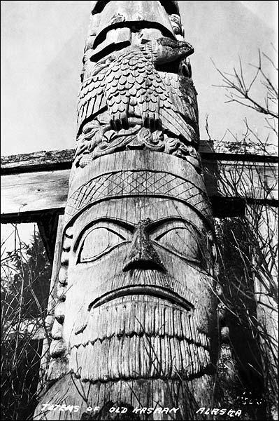 Kasaan Totem Pole Alaska 1916 Photo Print for Sale