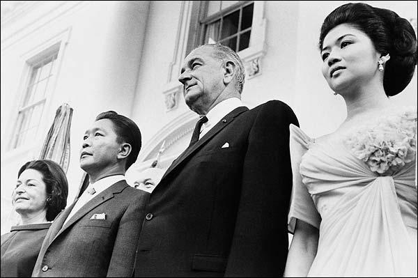 Pres. Lyndon Johnson & Ferdinand Marcos Photo Print for Sale