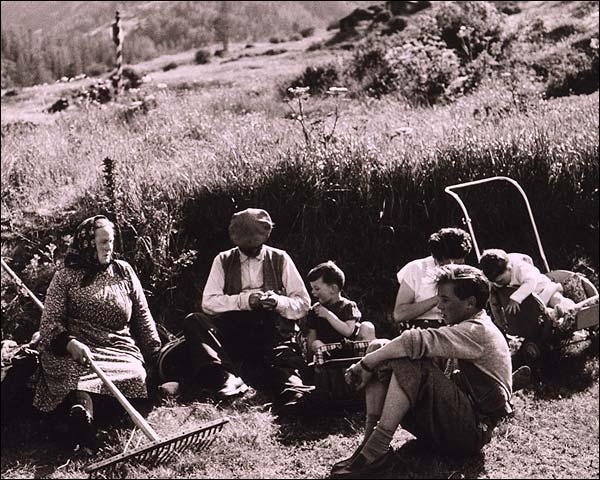 Swiss Farm Family Picnic Switzerland 1954 Photo Print for Sale