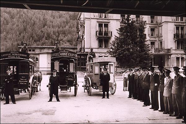 Swiss Hotel Resort Zermatt Switzerland 1954 Photo Print for Sale