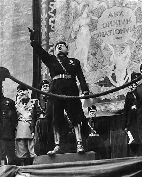Fascist Italian PM Benito Mussolini WWII Photo Print for Sale