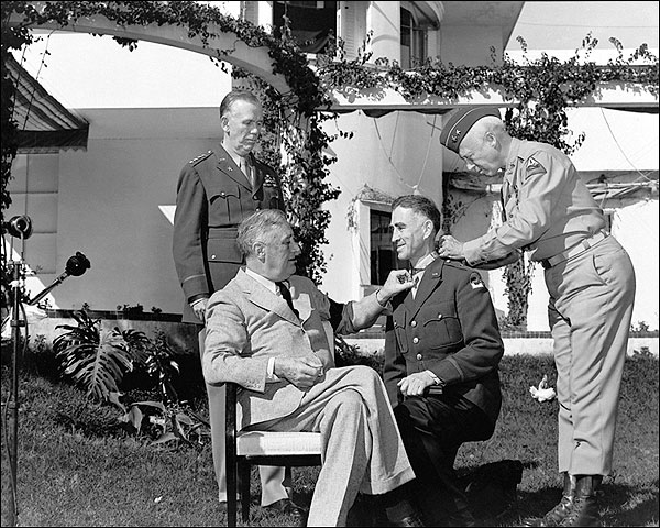 President Roosevelt w/ Patton & Marshall Photo Print for Sale