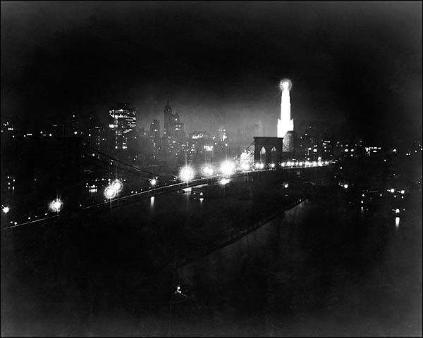 New York City Skyline Brooklyn Bridge 1919 Photo Print for Sale
