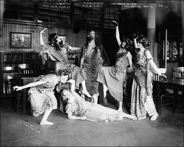 Bacchus Dance Dancers Early Theatre 1909 Photo Print for Sale