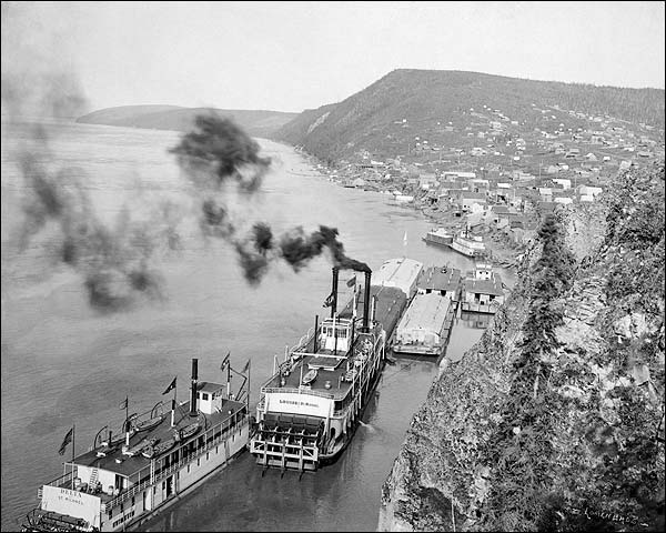 Yukon River Riverboats, Alaska Early 1900s Photo Print for Sale