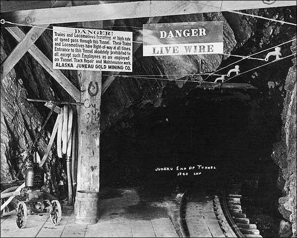 Alaska Juneau Gold Mining Company Tunnel Photo Print for Sale