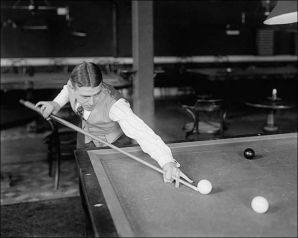 Billiard Willie Hoppe Playing Pool Photo Print for Sale