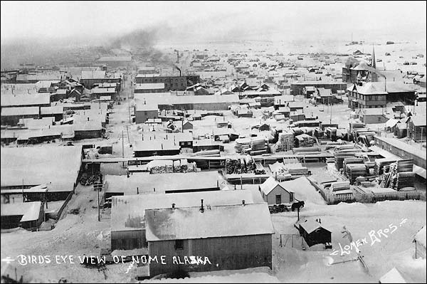 Nome, Alaska with Snow Early 1900s Photo Print for Sale