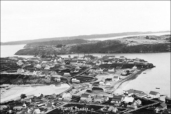 Aerial Photo of Kodiak Alaska Photo Print for Sale