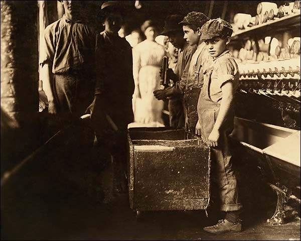 Child Doffer Workers at Elk Cotton Mills in Tennessee Photo Print for Sale