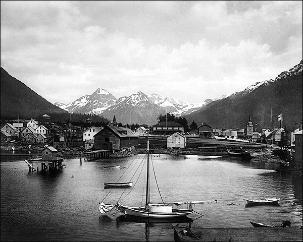 Three Sisters Mountains in Sitka, Alaska Photo Print for Sale