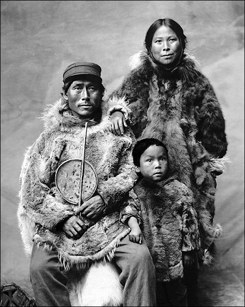 Eskimo Family in Nome, Alaska Photo Print for Sale