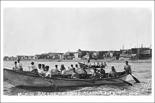 Oomiak Racers, Nome Alaska 1915 Photo Print for Sale