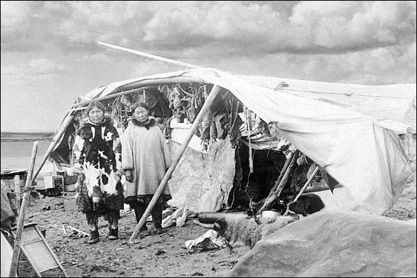 Eskimo Camp, Nome, Alaska 1916 Photo Print for Sale