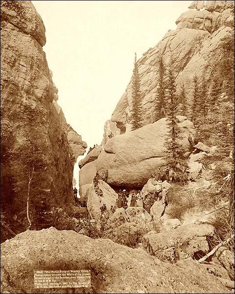 Deadwood Mountains, South Dakota 1891 Photo Print for Sale