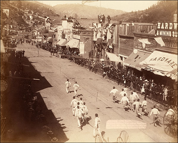 Chinese Hose Team Race Deadwood 1888 Photo Print for Sale