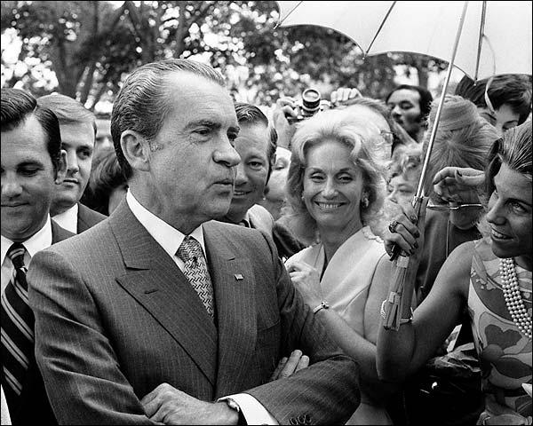 President Richard Nixon at Tricia's Wedding Photo Print for Sale