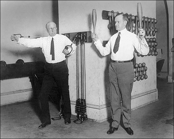 Calvin Coolidge Exercising in White House Gym Photo Print for Sale