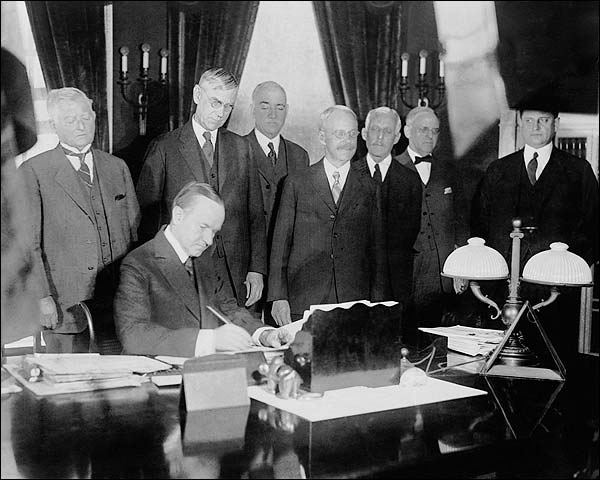 President Calvin Coolidge Signing Tax Bill Photo Print for Sale
